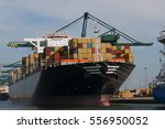 Container Ship Unloading In A...