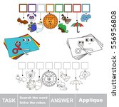 educational rebus game for... | Shutterstock .eps vector #556956808