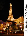 Stock photo las vegas mar paris las vegas hotel and casino featured with the theme of paris in france on 55695844