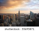new york city manhattan skyline ... | Shutterstock . vector #55695871