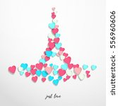 vector abstract illustration.... | Shutterstock .eps vector #556960606