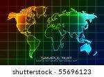 world map   technology ... | Shutterstock .eps vector #55696123