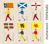 set of simple flat people with... | Shutterstock .eps vector #556962682