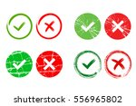 tick and cross signs. green... | Shutterstock .eps vector #556965802