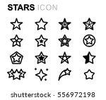vector line stars icons set | Shutterstock .eps vector #556972198