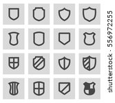 vector line shield icons set | Shutterstock .eps vector #556972255
