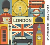 london travel poster concept.... | Shutterstock .eps vector #556976455