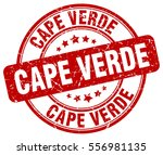 cape verde. stamp. red round... | Shutterstock .eps vector #556981135