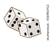 pair of dices icon over white... | Shutterstock .eps vector #556981912