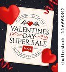 valentines day discount.... | Shutterstock .eps vector #556993342