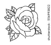 flower rose  black and white.... | Shutterstock .eps vector #556993822