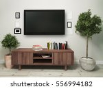 widescreen television with a... | Shutterstock . vector #556994182