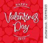 happy valentine's day. trendy... | Shutterstock .eps vector #556998355