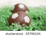Pastries shaped like soccer ball - stock photo