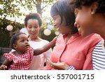 multi generation female family... | Shutterstock . vector #557001715