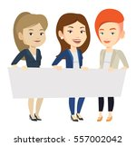 three young caucasian women... | Shutterstock .eps vector #557002042