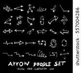 vector hand drawn arrows set...
