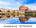 rome  italy. saint angelo... | Shutterstock . vector #557010442
