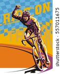 biking illustration. layered... | Shutterstock .eps vector #557011675