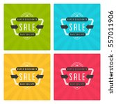 sale banners or labels vector...   Shutterstock .eps vector #557011906