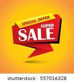 super sale bubble style banner  ... | Shutterstock .eps vector #557016328