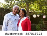 senior black couple in their... | Shutterstock . vector #557019325