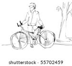 bicyclist | Shutterstock .eps vector #55702459