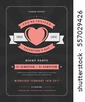 happy valentines day party... | Shutterstock .eps vector #557029426