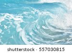 close up sea wave background.... | Shutterstock . vector #557030815