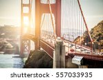 panoramic view of golden gate... | Shutterstock . vector #557033935