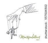 vector hand drawn manipulation... | Shutterstock .eps vector #557034502