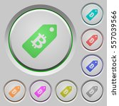 bitcoin price label color icons ...   Shutterstock .eps vector #557039566