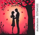 illustration black silhouette...   Shutterstock .eps vector #557044102