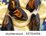 Mussels Seasoned With Lemon