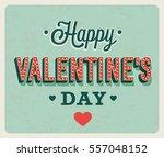happy valentines day vintage...   Shutterstock .eps vector #557048152