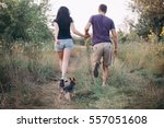 couple running together. sport... | Shutterstock . vector #557051608