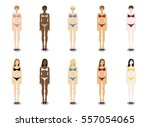 vector set illustration of ... | Shutterstock .eps vector #557054065