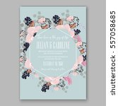 wedding invitations with... | Shutterstock .eps vector #557058685