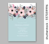 wedding invitations with... | Shutterstock .eps vector #557059996