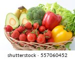 fresh fruits and vegetables | Shutterstock . vector #557060452