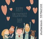 happy loving couple | Shutterstock .eps vector #557062132