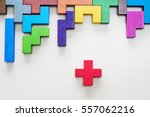 different colorful shapes... | Shutterstock . vector #557062216