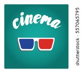 points for cinema in a flat...   Shutterstock .eps vector #557065795