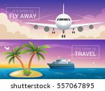 vector travel banners set....   Shutterstock .eps vector #557067895