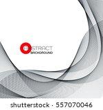 vector abstract black wave... | Shutterstock .eps vector #557070046