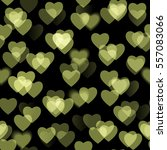 golden blurred hearts isolated...   Shutterstock . vector #557083066