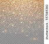glitter gold background with... | Shutterstock .eps vector #557085382