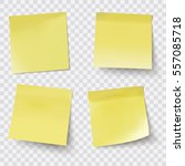 yellow sticky notes  vector... | Shutterstock .eps vector #557085718