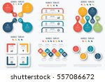 set with infographics. data and ... | Shutterstock .eps vector #557086672