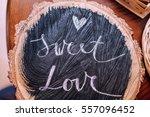 wedding rustic decor for autumn ... | Shutterstock . vector #557096452